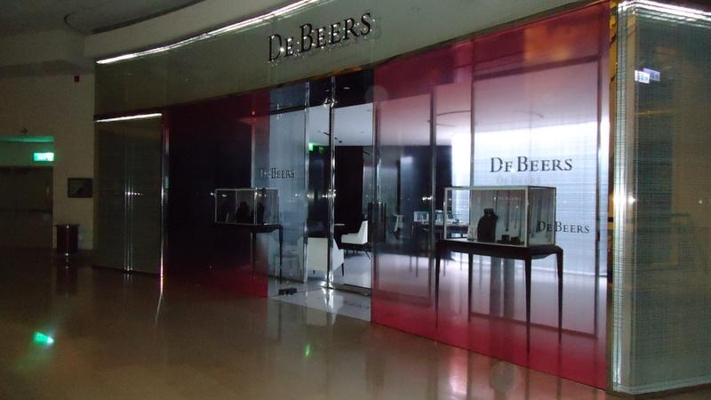 DeBeers櫥窗展示
